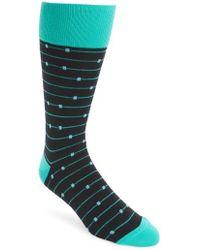 Calibrate - Ticked Stripe Socks - Lyst