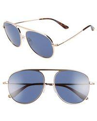 Tom Ford - 59mm Aviator Sunglasses - - Lyst