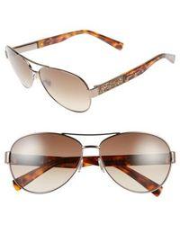 Jimmy Choo | 'babas' 59mm Aviator Sunglasses - Shiny Bronze | Lyst