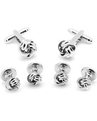 Ox and Bull Trading Co. - Silver Knot Stud Set - Lyst