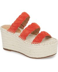 e9221cc0b4a5 Tory Burch Linley Espadrille Wedge Mustard in Yellow - Lyst