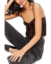 TOPSHOP - Know Front Stripe Camisole - Lyst