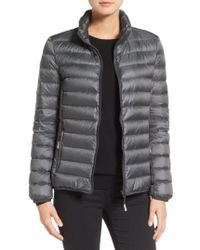 Tumi - 'Pax On The Go' Packable Quilted Jacket, Grey - Lyst