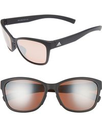 457a875cbd Lyst - Adidas Excalate 58mm Mirrored Sunglasses - Crystal Clear ...