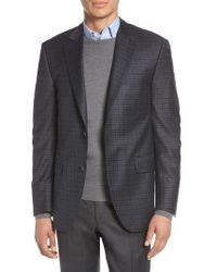 Peter Millar - Classic Fit Windowpane Check Wool Sport Coat - Lyst