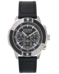 Versus - Versus By Versace Admiralty Chronograph Leather Strap Watch - Lyst