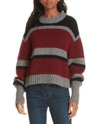Veronica Beard - Magda Stripe Alpaca & Merino Wool Blend Sweater - Lyst