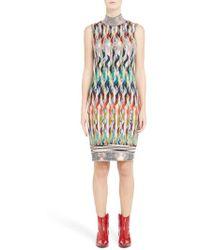 Missoni - Knit Turtleneck Dress - Lyst