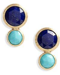 Marco Bicego - Jaipur Lapis & Turquoise Stud Earrings - Lyst