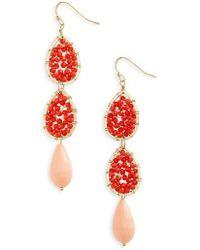 Panacea | Beaded Linear Earrings | Lyst