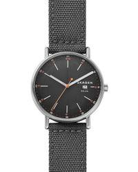 Skagen - Signatur Solar Nylon Strap Watch - Lyst