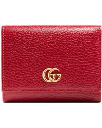 Gucci - Marmont Leather French Wallet - - Lyst