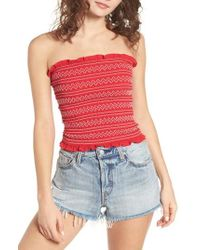 The Fifth Label - Riverine Smock Strapless Top - Lyst