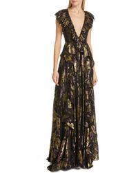 1d1c2d8152a5d Elie Tahari Demetria Sleeveless Chain-trim Silk Dress in Brown - Lyst