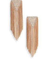 Panacea - Crystal Fringe Earrings - Lyst