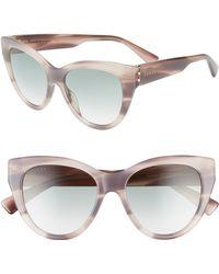 aed9bebd107 Gucci - 53mm Gradient Cat Eye Sunglasses - Marble Print Purple - Lyst