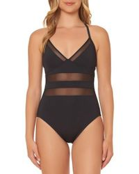 Bleu Rod Beattie - Bleu By Rod Beattie Mesh Inset One-piece Swimsuit - Lyst