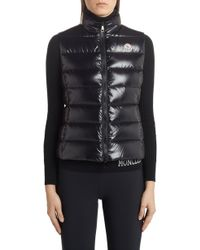 Moncler - Ghany Water Resistant Shiny Nylon Down Puffer Vest - Lyst