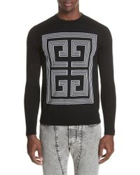 Givenchy - 4g Intarsia Wool Sweater - Lyst