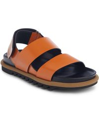 e484d9eaa6a Lyst - Dries Van Noten Metallic Leather Platform Sandal in Metallic