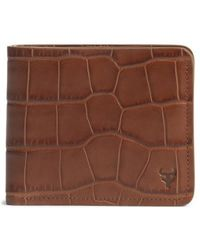Trask - 'jackson' Slimfold Embossed Leather Wallet - Lyst