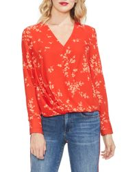 Vince Camuto - Desert Ditsy Floral Print Blouse - Lyst
