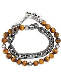 John Hardy - Legends Naga Double Wrap Link Bracelet - Lyst