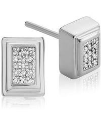 Monica Vinader - Baja Deco Diamond Stud Earrings - Lyst