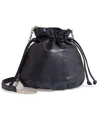 Chelsea28 - Phoebe Mini Metallic Bucket Bag - Lyst