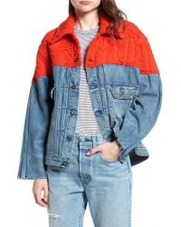 Levi's - Levi's Made & Crafted(tm) Native Mixed Media Trucker Jacket - Lyst