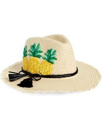 Kate Spade - Pineapple Woven Trilby - - Lyst
