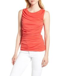 Trouvé - Shirred Sleeveless Top - Lyst
