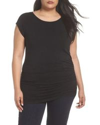 Sejour - Gathered Side Seam Tunic - Lyst