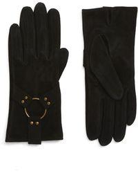 Frye - Classic Lambskin Suede Gloves - Lyst