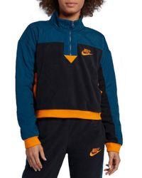 0b37178f4f4e Lyst - Nike Sportswear Women s Half Zip Jacket