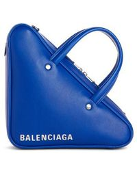 Balenciaga - Extra Small Triangle Leather Bag - Lyst