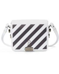 Off-White c/o Virgil Abloh - Diagonal Stripe Mini Flap Bag - - Lyst