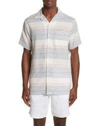 Onia - Americana Stripe Woven Camp Shirt - Lyst