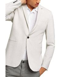 TOPMAN - Lionis Skinny Fit Textured Sport Coat - Lyst