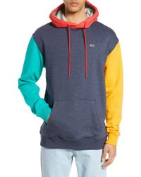 f9a65679 Tommy Hilfiger 90s Colorblock Hoodie in Blue for Men - Lyst