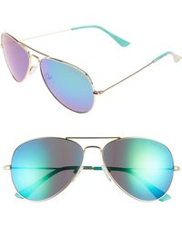 Lilly Pulitzer - Lilly Pulitzer Lexy 59mm Polarized Aviator Sunglasses - Lyst