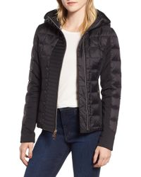 Marc New York - Hybrid Faux Leather Quilted Hooded Jacket - Lyst