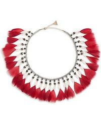 Serefina - Fluid Feather Collar Necklace - Lyst