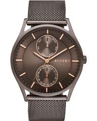 Skagen - 'holst' Multifunction Mesh Strap Watch - Lyst