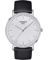Tissot - T109.407.16.031.00 Everytime Swissmatic Stainless Steel And Leather Watch - Lyst