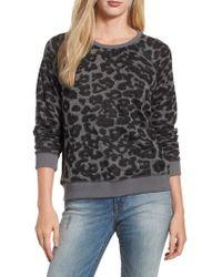 Lucky Brand - Cheetah Print Sweatshirt - Lyst
