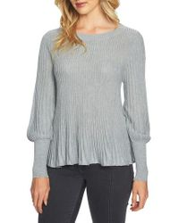 1.STATE   Blouson Sleeve Metallic Swing Sweater   Lyst