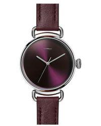 Shinola - Bolt Leather Strap Watch - Lyst