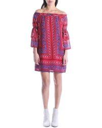 Kut From The Kloth - Jaida Off The Shoulder Ruffle Sleeve Dress - Lyst