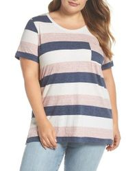 Vince Camuto - Cafe Stripe Pocket Tee - Lyst